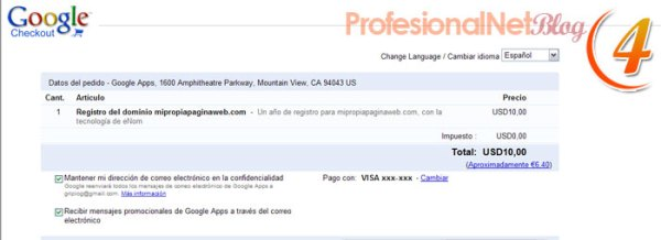 Google Sites - Cuarto Paso
