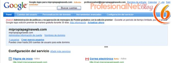 Google Sites - sexto paso