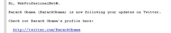 Obama follwing on Twitter