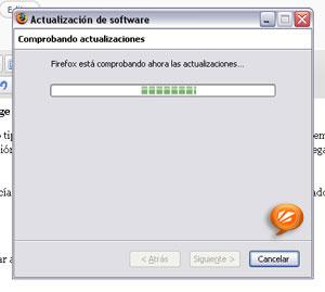 Una vez eleccionado el navegador buscar´utomáticamente la actualización a 3.0.6